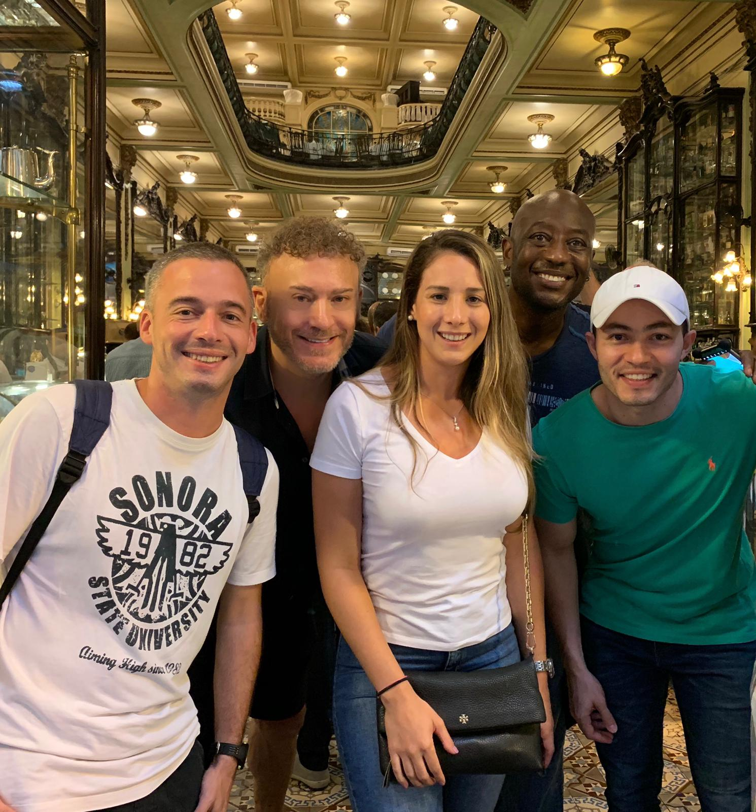 Sweet Afternoon at Confeitaria Colombo. Portuguese Students in Rio