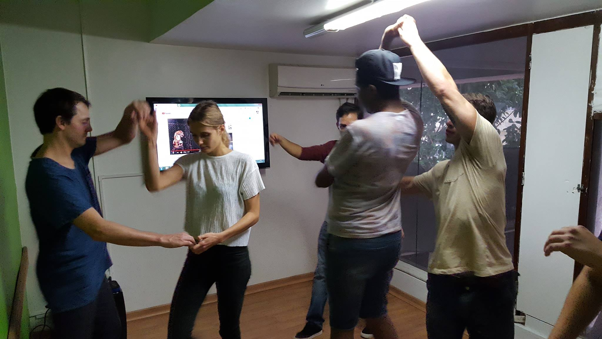 Bailando forró en Río de Janeiro.