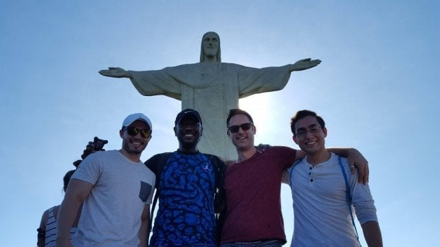 Christ is even better the second time. Foreigner students visiting Christ the Redeemer.