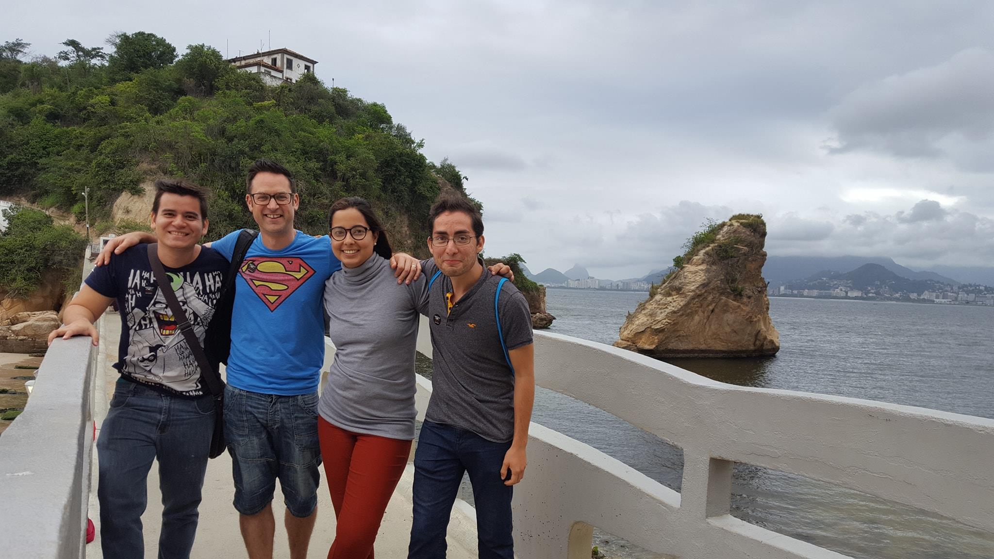 From the bridge to Ilha da Boa Viagem we can city Rio de Janeiro. View of Rio de Janeiro from Niterói.