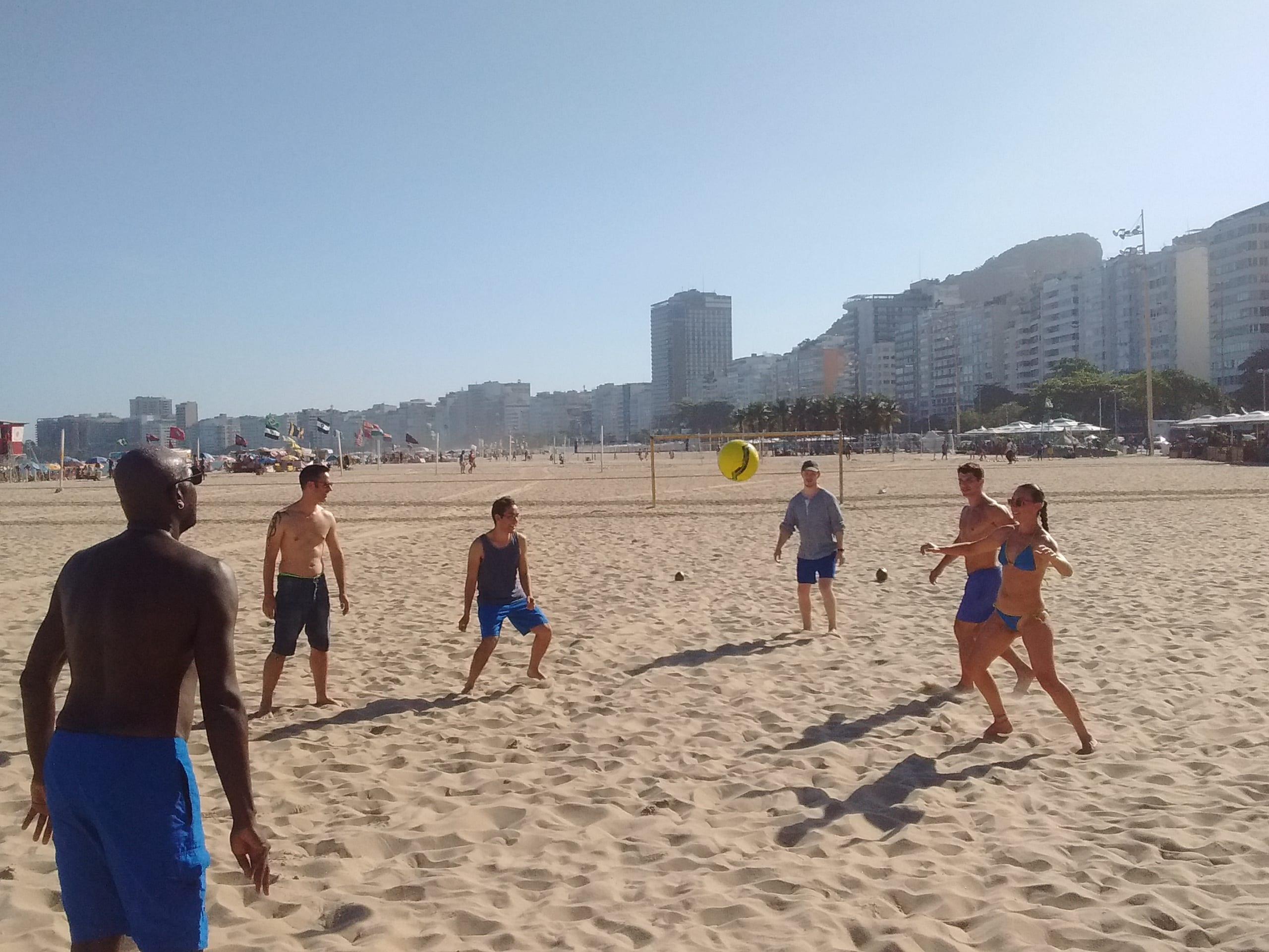 We had a fun time among friends playing beach soccer right next to our beloved school.