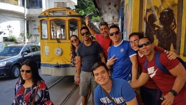 Our First Feijoada. Santa Teresa Tram took us to the top of Santa Teresa to have a delicious feijoada.