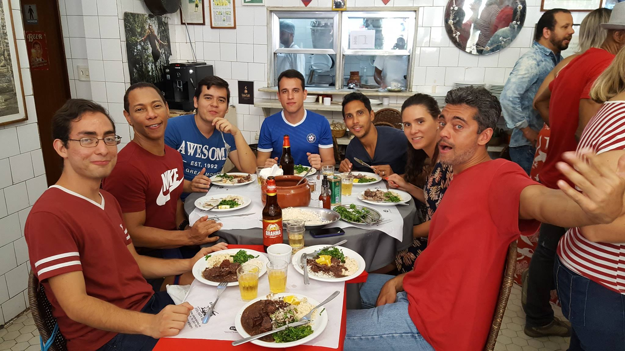 Guess who tried Feijoada for the first time! Eating feijoada at bar do Mineiro in Santa Teresa, Rio de Janeiro.