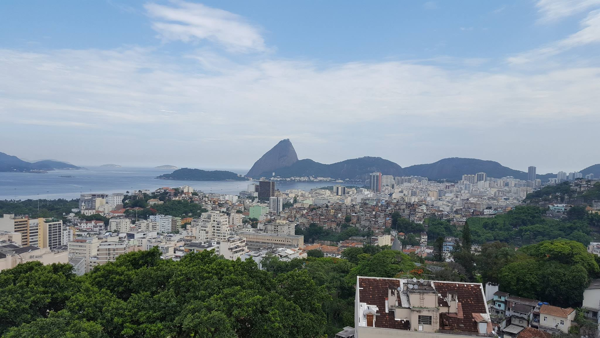 View of Rio from the top of Santa teresa!