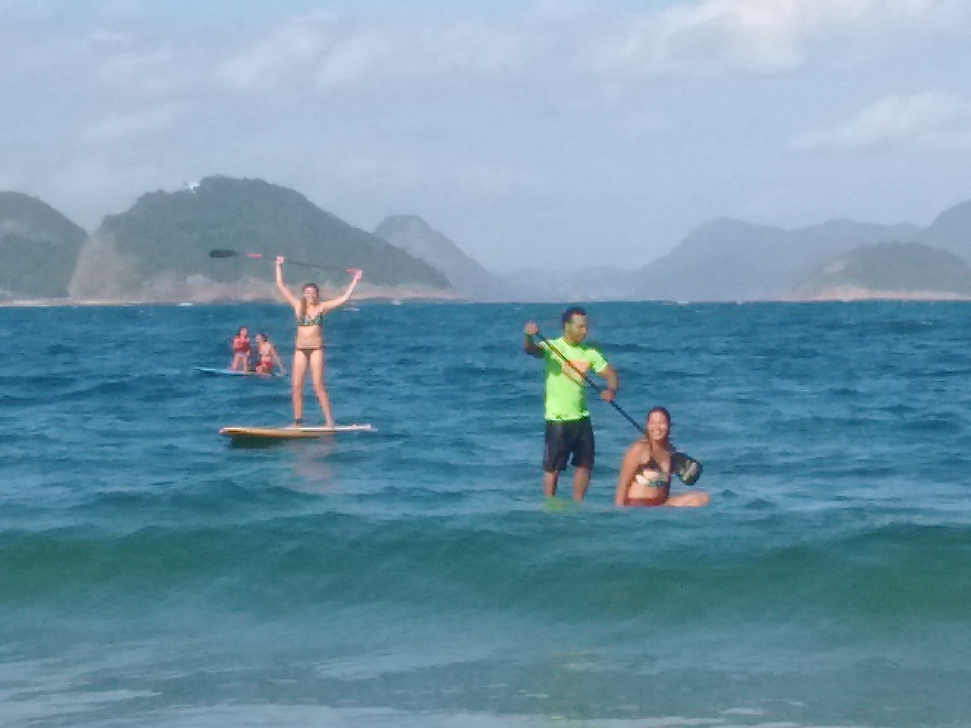 Learn Portuguese and get a golden tan. Class feeling good after seeing 4 turtles while doing a SUP session.