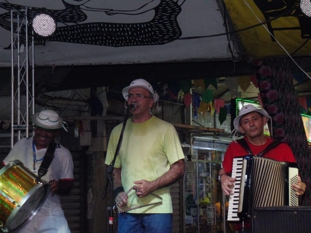 Sweet Forró. Forró trio playing Forró music at Feira de São Cristóvão.