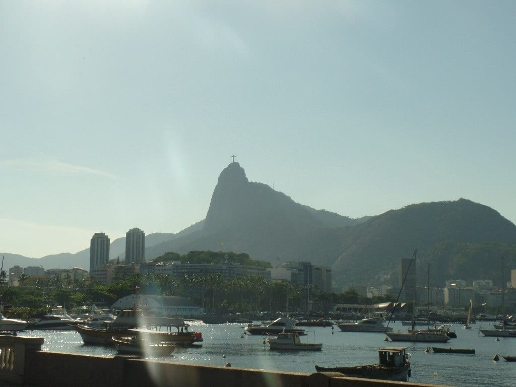 Urca. Farewell party at Urca. Landscape of the corcovado