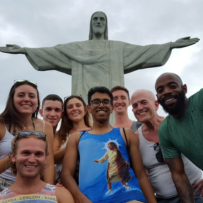 6 Month Brazil Student Visa. Students at Cristo Redentor.