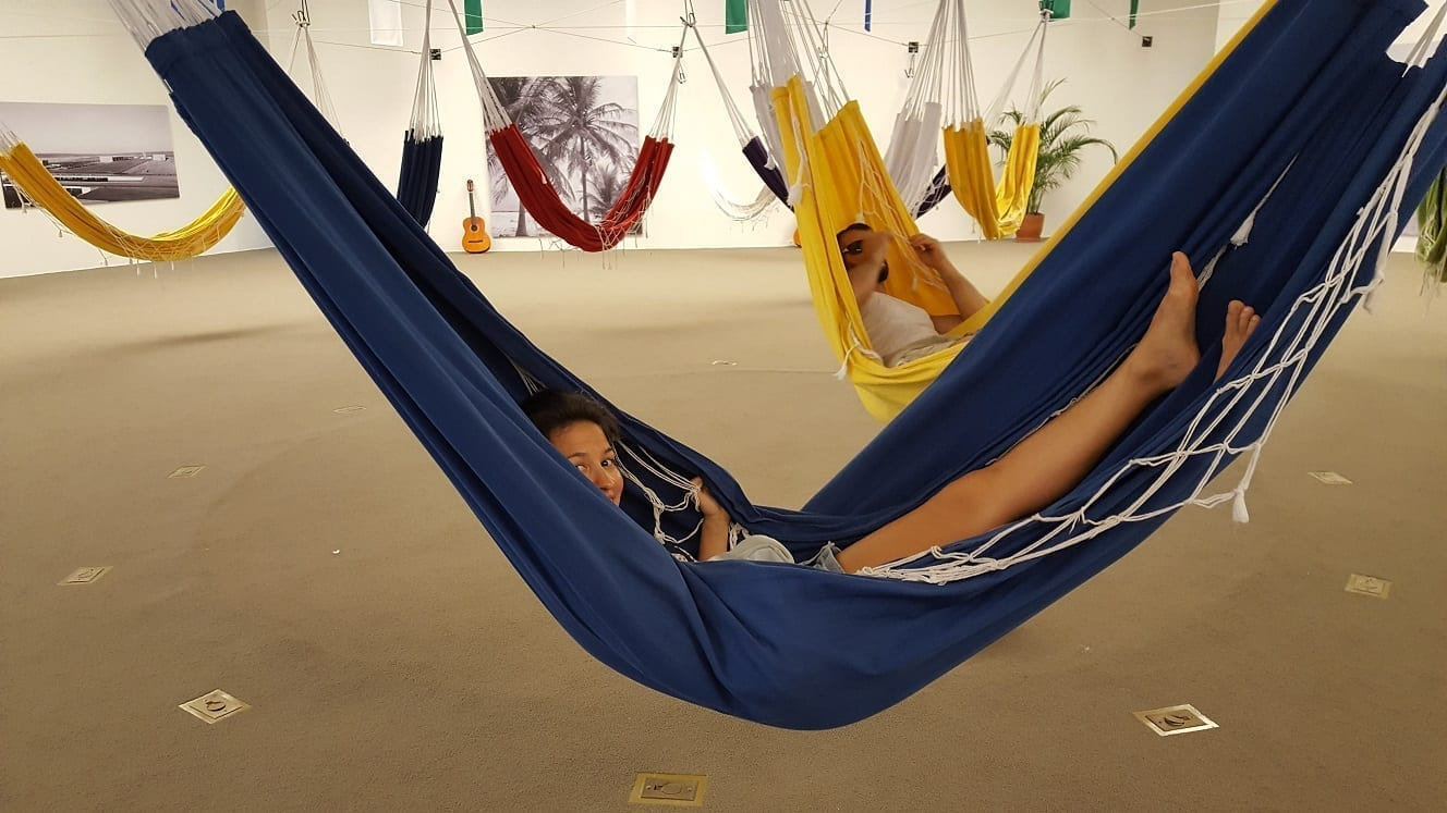 Hammocks at Niemeyer Museum