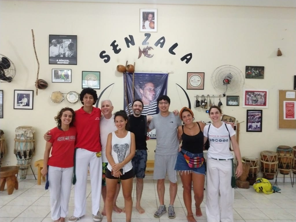 Capoeira at Senzala. Foreigners doing Capoeira.