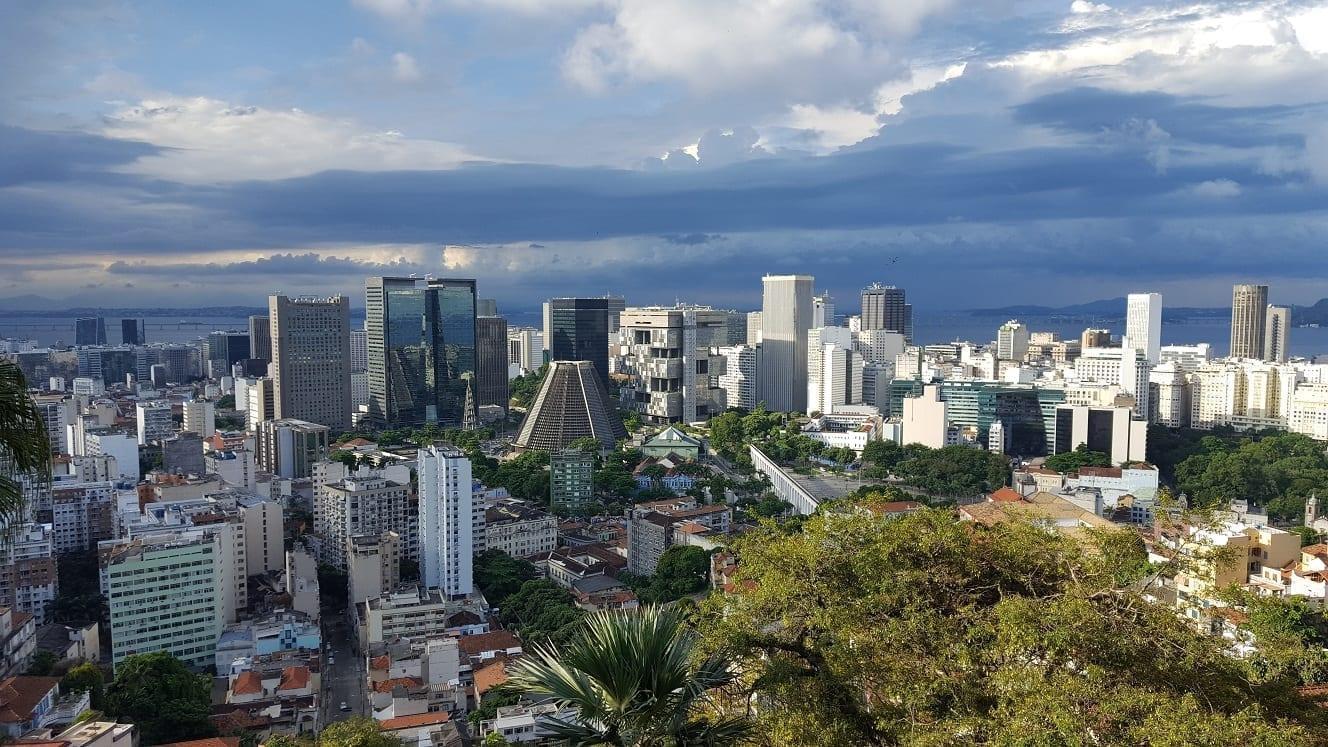 View from the top of Ruins Park in Santa Teresa, Rio de Janeiro.