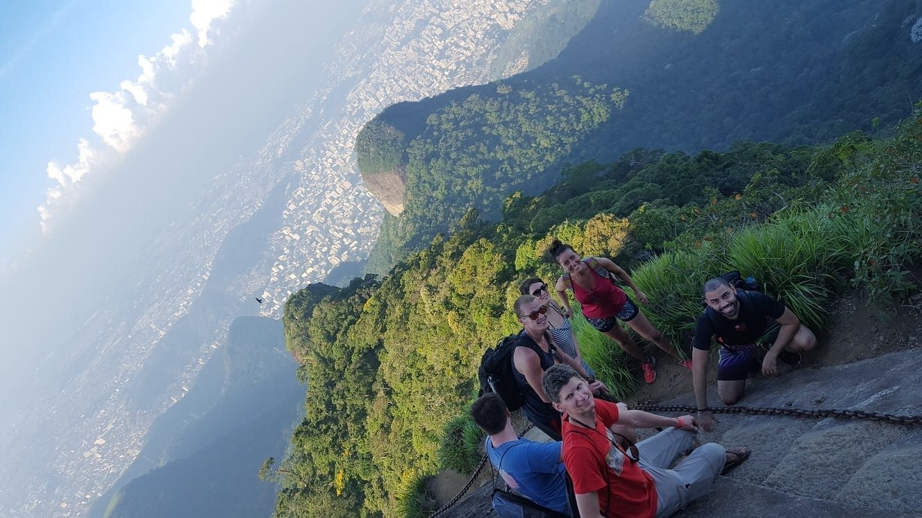 At the top of the Gigantic Tijuca Forest.