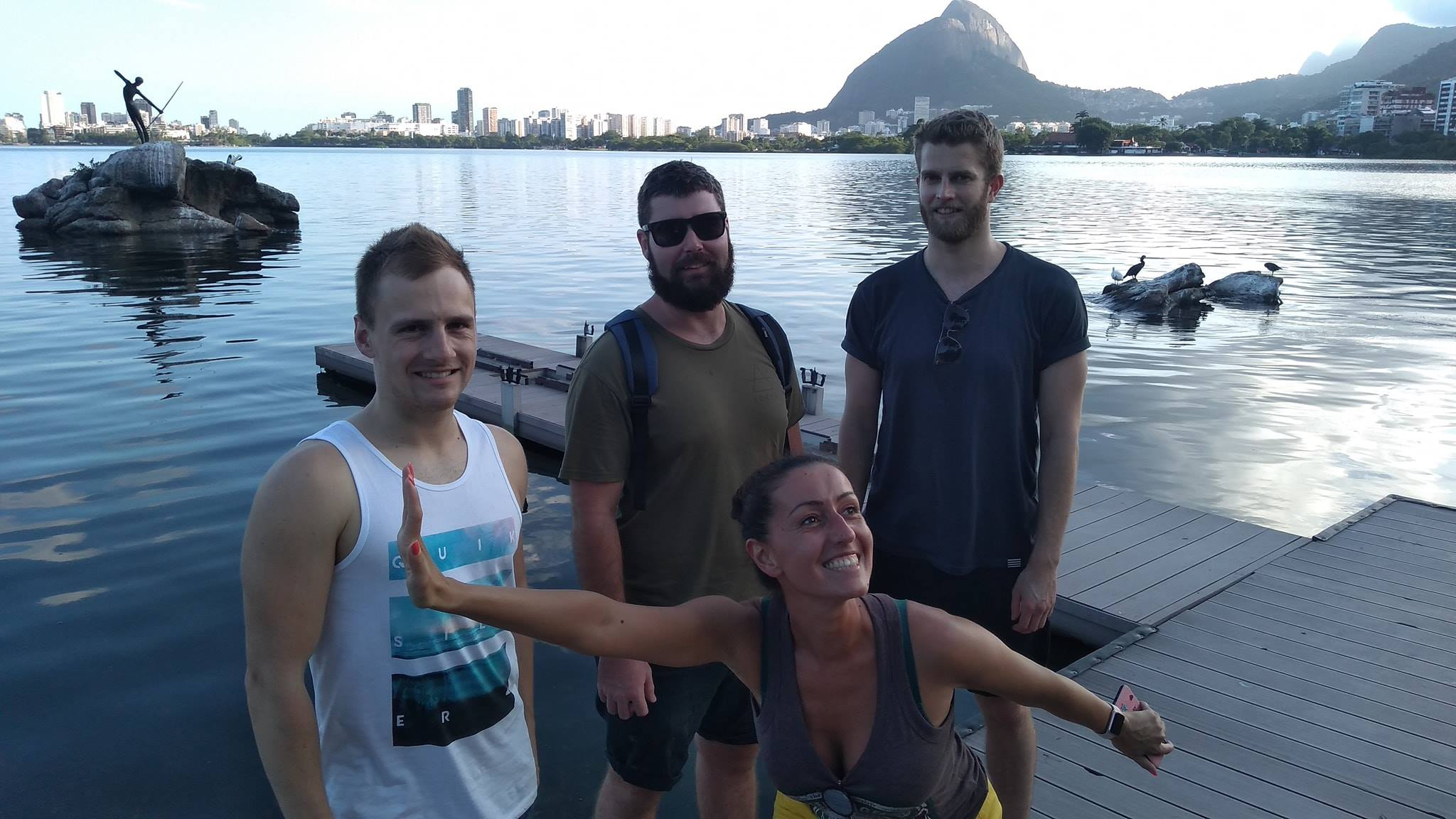 Biking at Rodrigo de Freitas Lagoon. The students were very excited to ride their bikes and see beautiful city views of Rio de Janeiro!