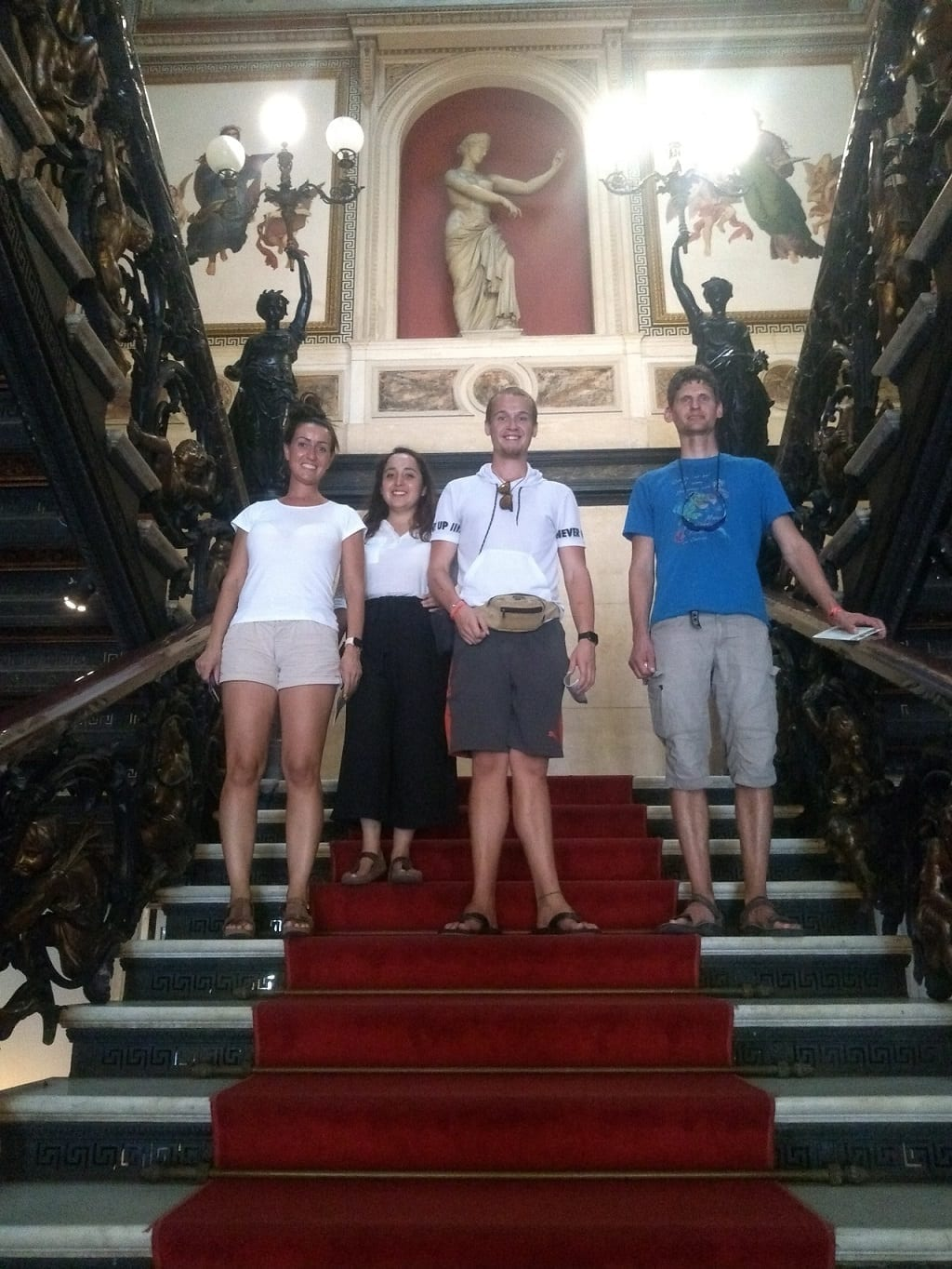 Students inside the Museum of Republic in Rio de Janeiro