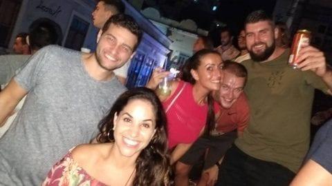Bailando Samba en Pedra do Sal en Río de Janeiro.
