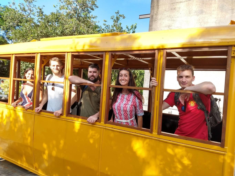 En el antiguo teleférico del Pan de Azúcar.