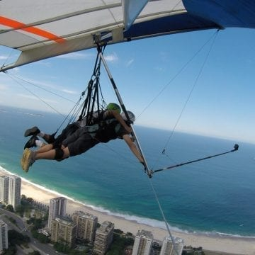 Opening the wings over the Marvelous City. Hang Gliding in Rio de Janeiro