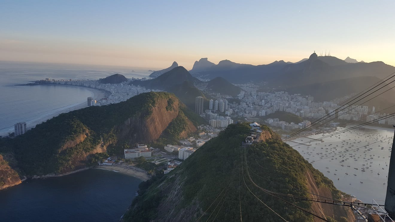 Picture of Rio de Janeiro from the top of the Sugarloaf mountain. Isn't it the perfect photo at the Sugarloaf?