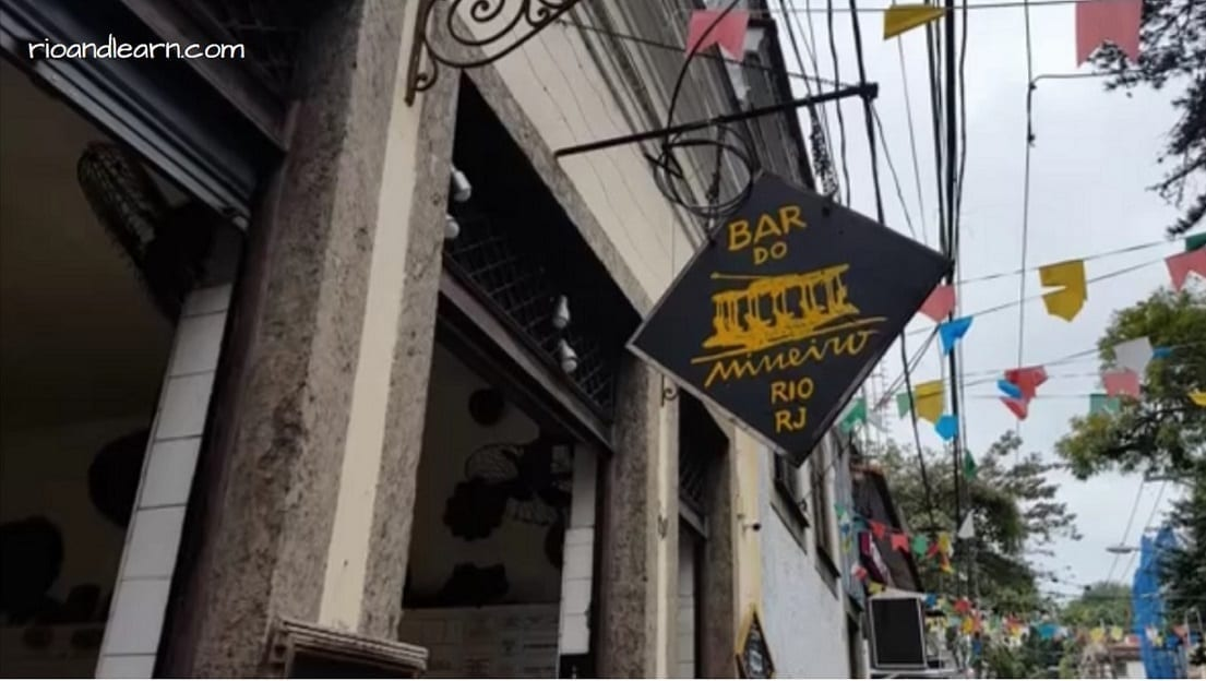 Entrance to one of the best Santa Teresa restaurants: Bar do Mineiro in Rio de Janeiro.