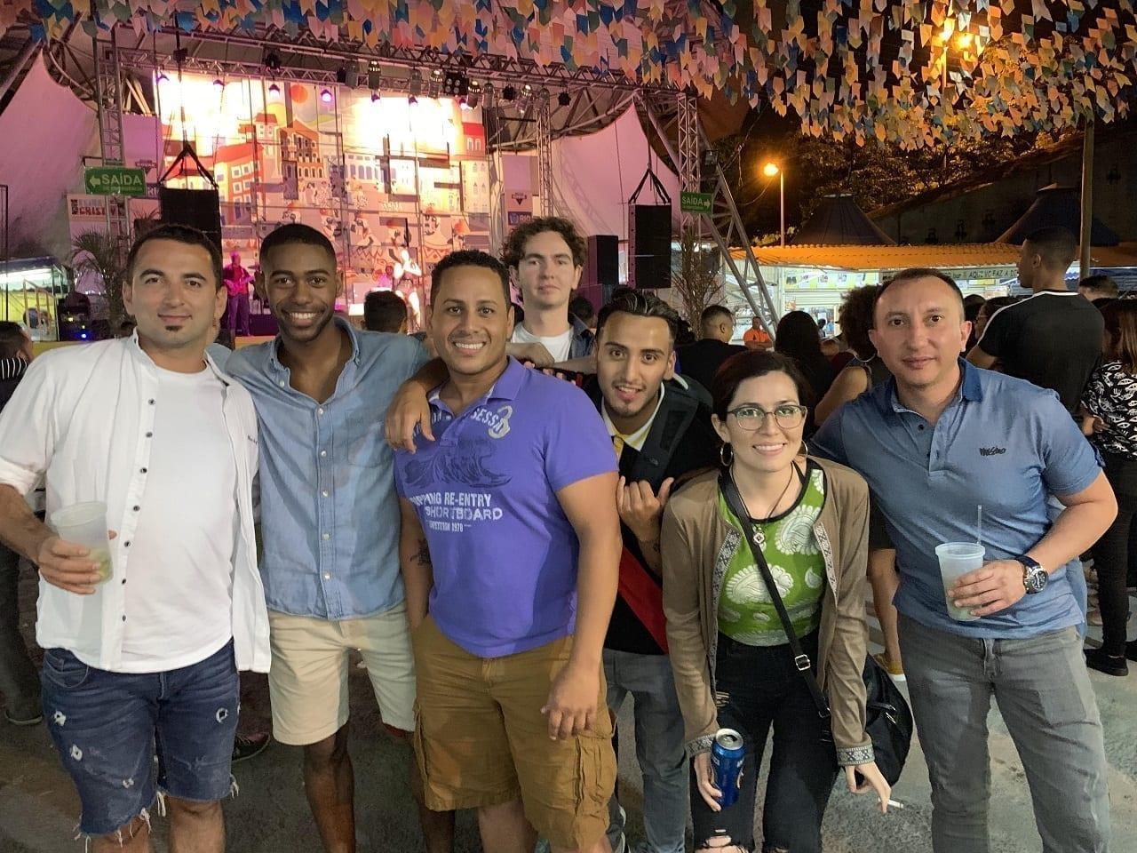 Estudiantes en el palco de la Feria de San Cristóbal de Río de Janeiro.