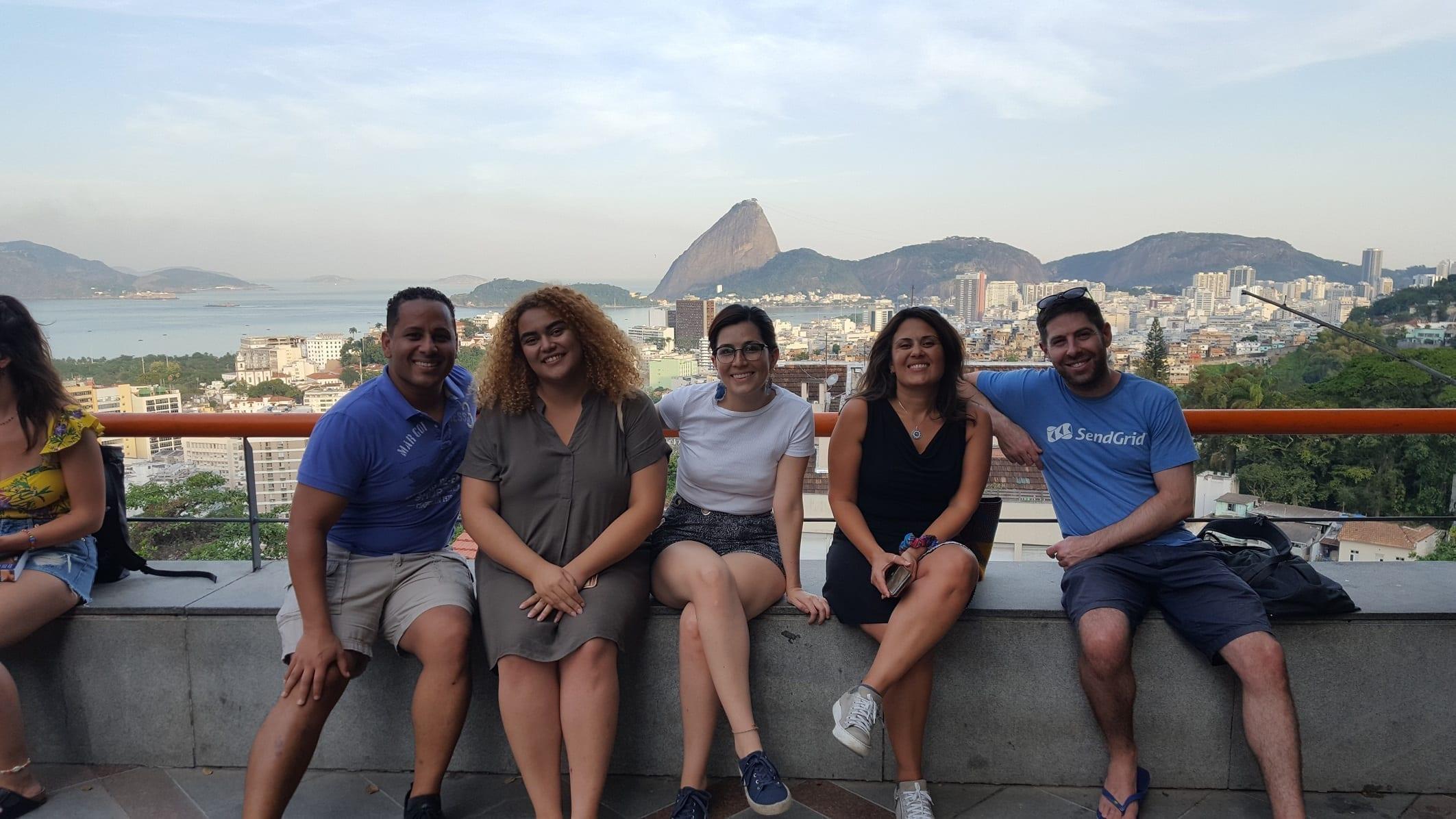 Paseando por Santa Teresa en Río de Janeiro.