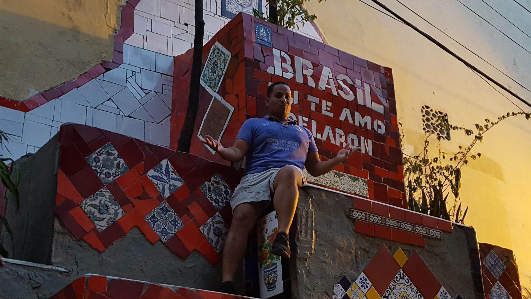 Picture at Escadaria Selarón (Selarón Steps) in Rio de Janeiro. Brasil Eu te Amo Selarón!