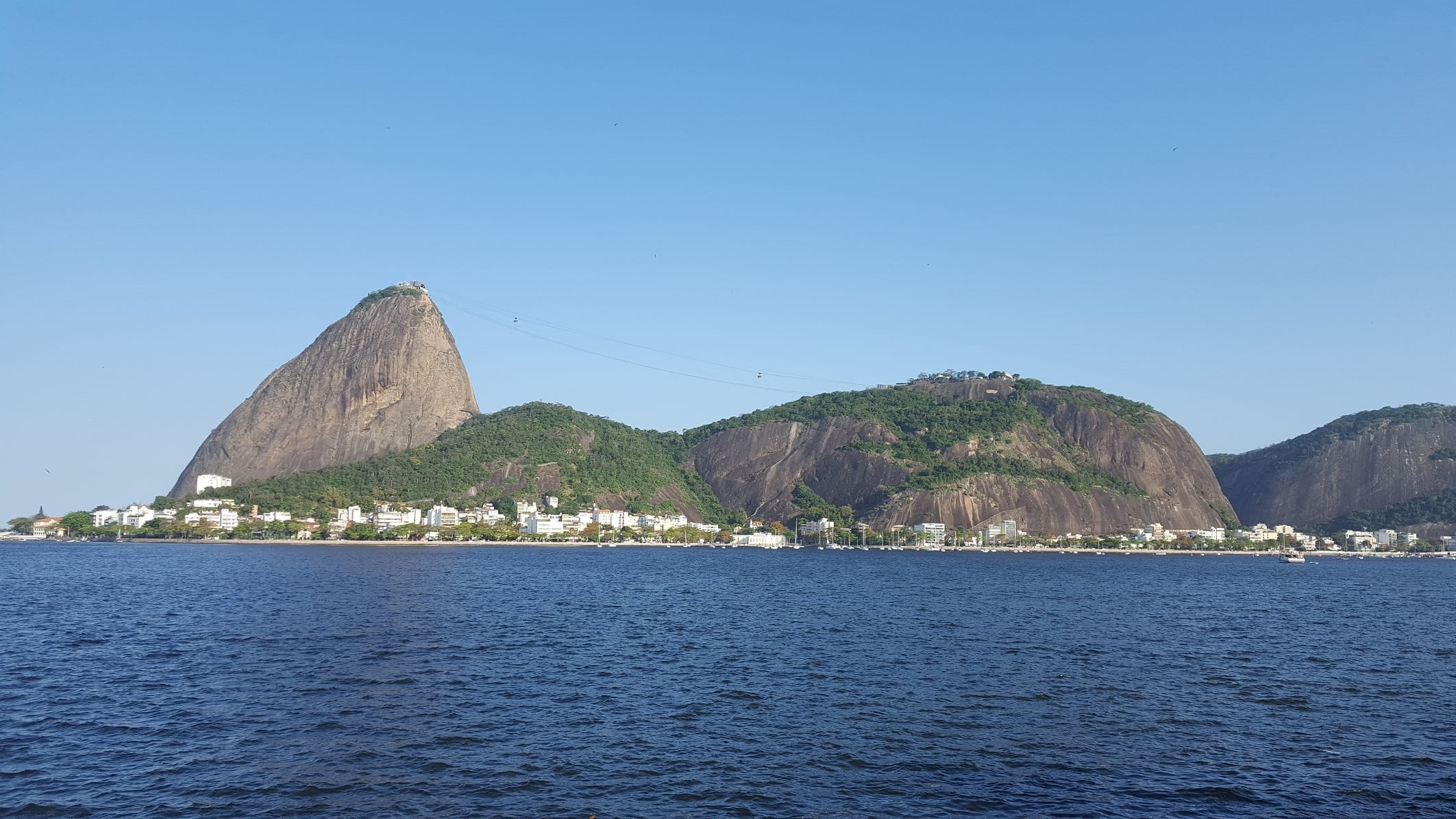 Sugar Loaf view from Flamengo and Botafogo coast.