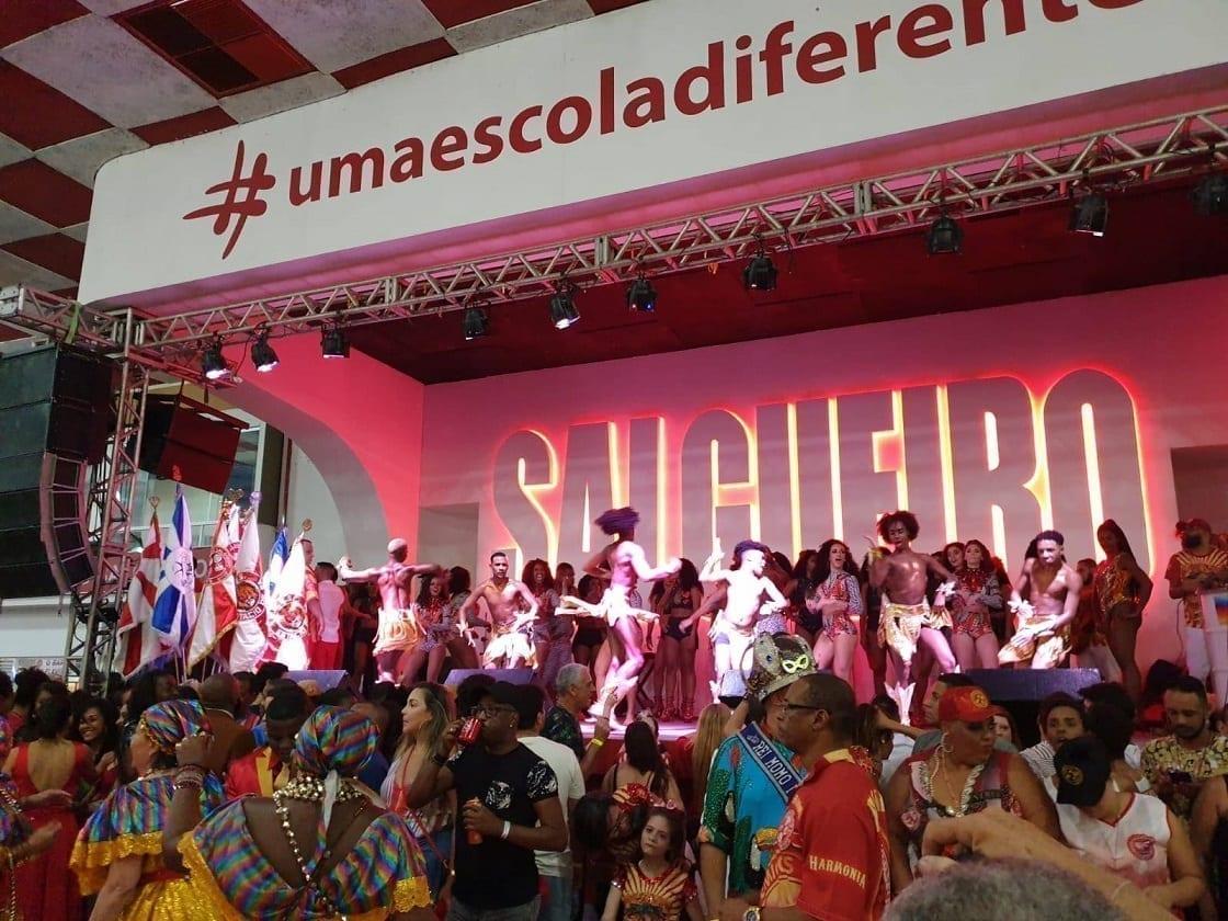 A apresentação do Salgueiro no Salgueiro no Rio de Janeiro.