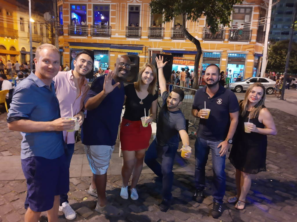 Pedra do Sal with friends