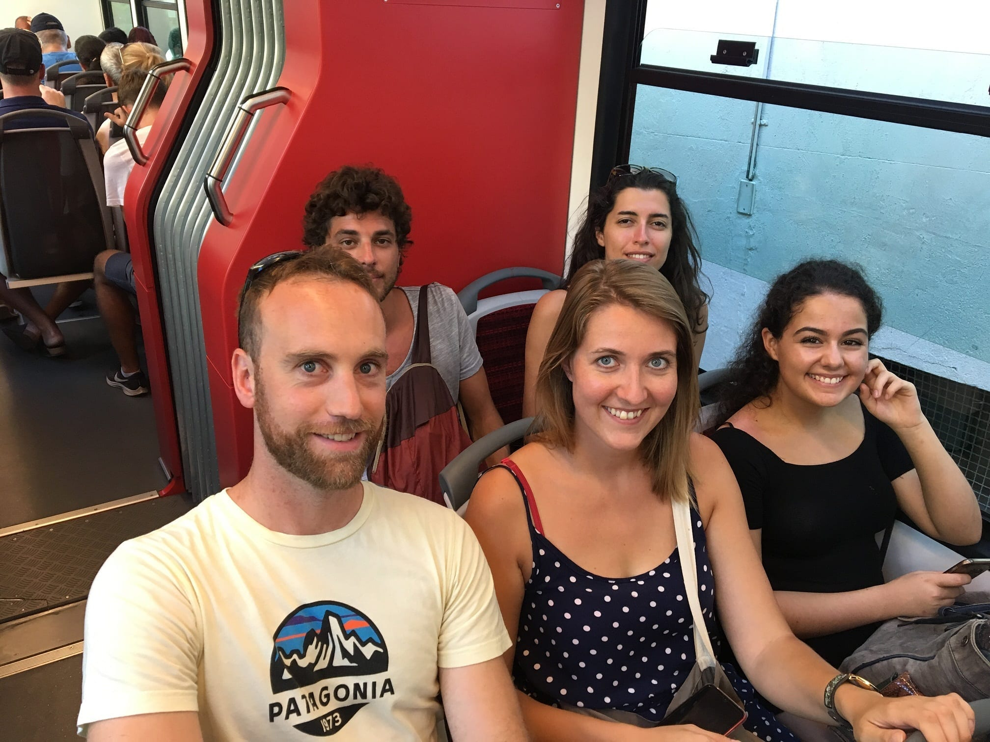 Students On the train going up to Corcovado