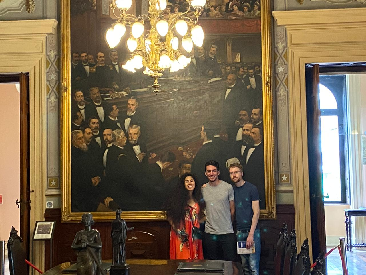 Students in the Ministerial Hall at Catete Palace