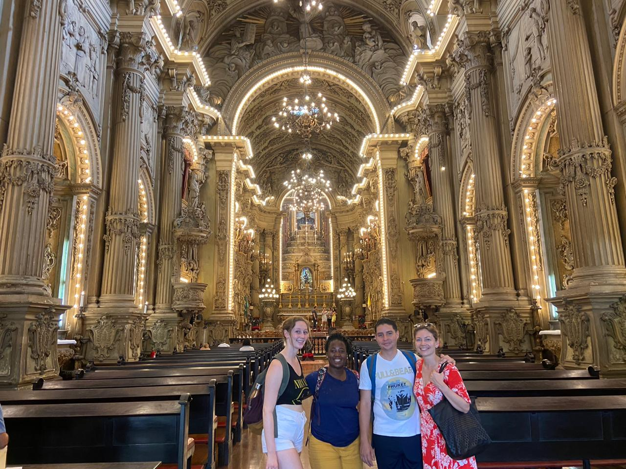 Students in the Church of São Francisco de Paula