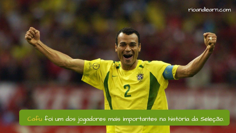 Cafu. Cafu foi um dos jogadores mais importantes na história da Seleção.