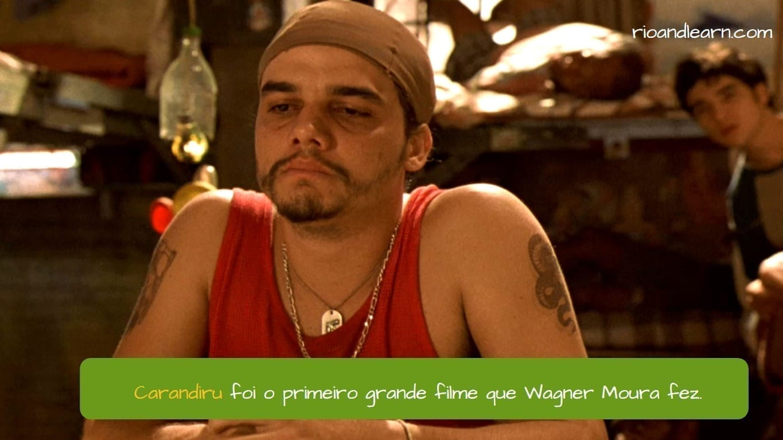 Wagner Moura. Carandiru foi o primeiro grande filme que Wagner Moura fez.