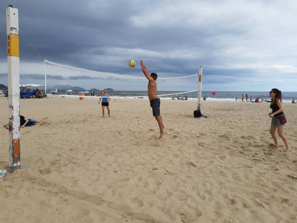 Playing Volley and Making Friends