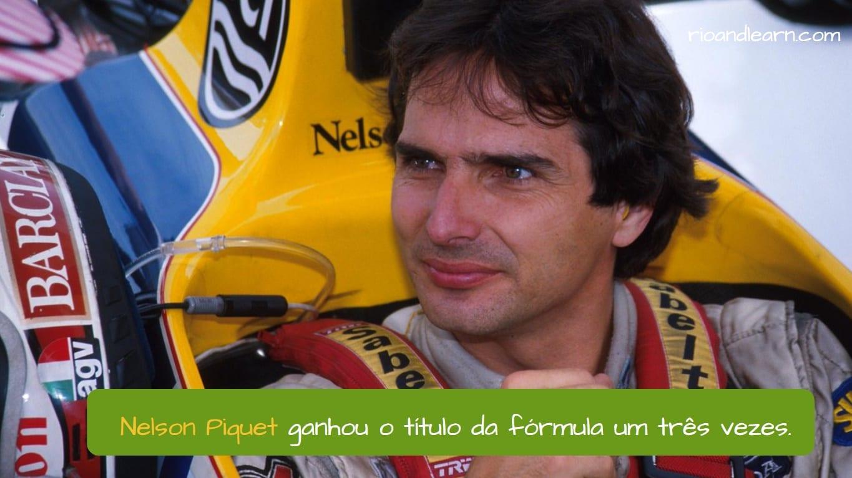 Nelson Piquet en Portugués.