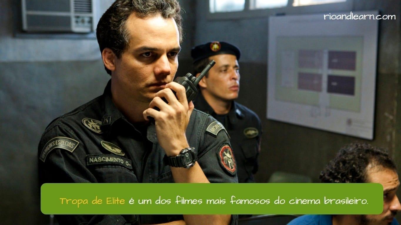Wagner Moura. Tropa de Elite é um dos filmes mais famosos do cinema brasileiro.