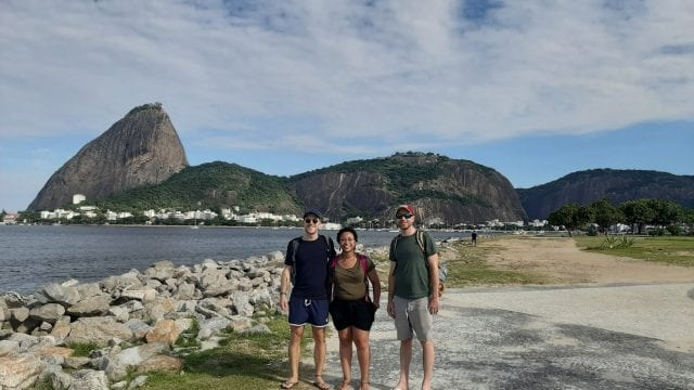 Frist time seeing the Sugar Loaf. Students in front of it.