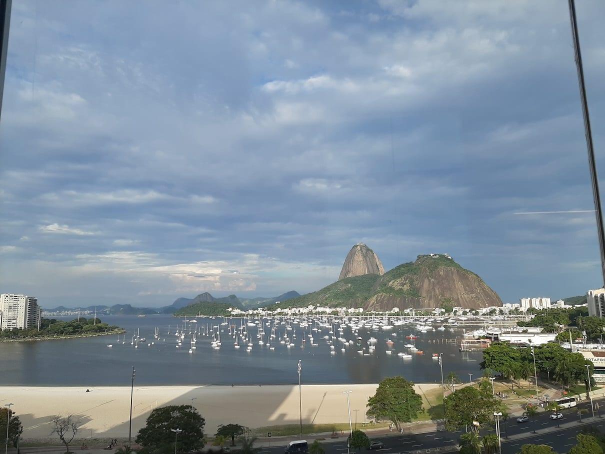 Las vistas del Shopping Botafogo Praia en Río de Janeiro.
