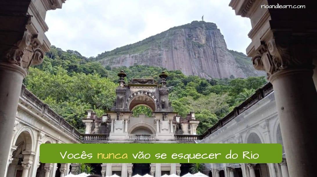 Ejemplo de adverbios de negación en portugués: