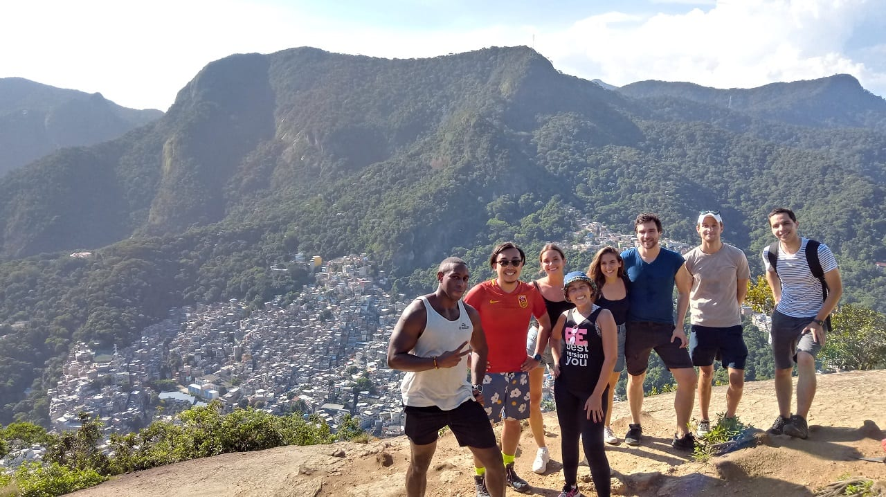 After visiting Vidigal, the view of Rocinha