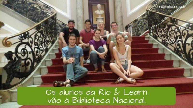 Ejemplo de la A con tilde en portugués (crase): Os alunos da Rio & Learn vão à Biblioteca Nacional.