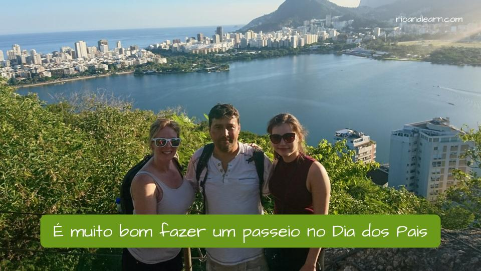 Father's Day in Brazil. Father and daughter taking a tour in Brazil