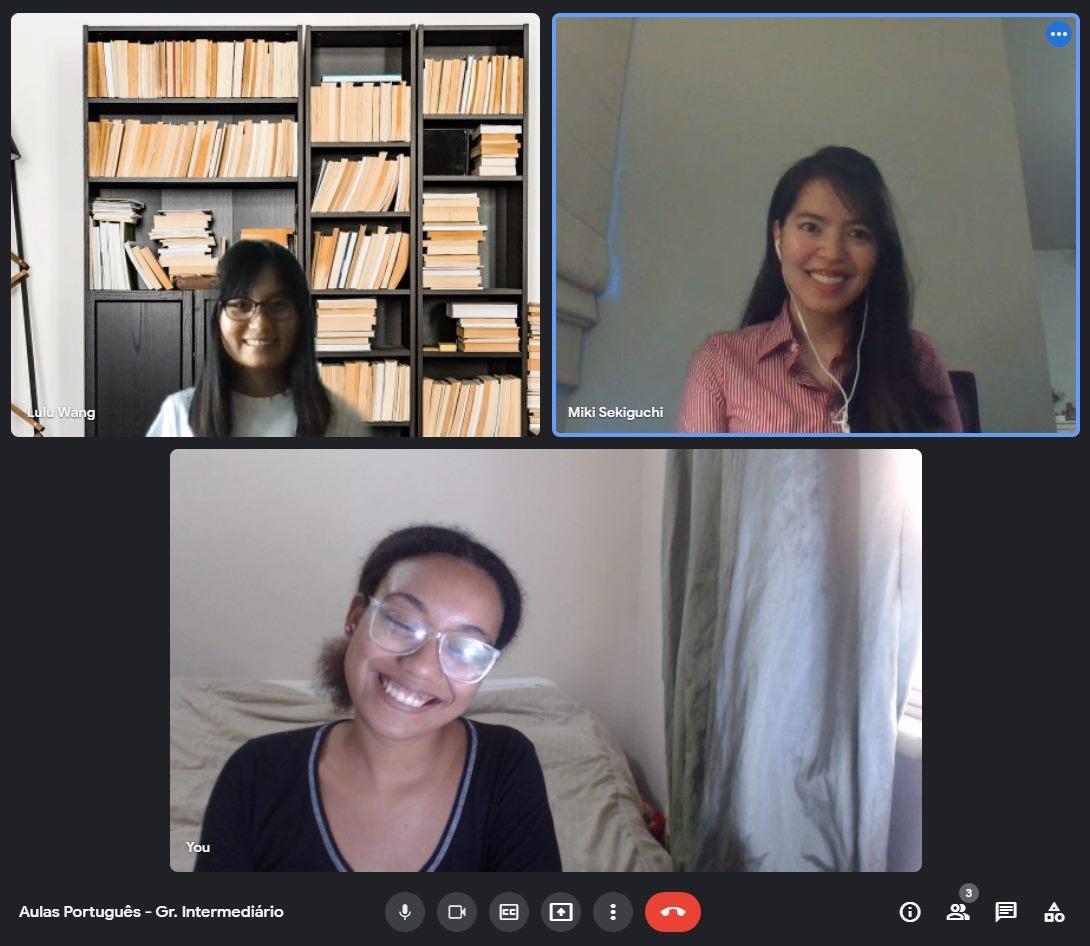 Covid no Brazil. Rio & Learn oferece aulas online para estrangeiros.