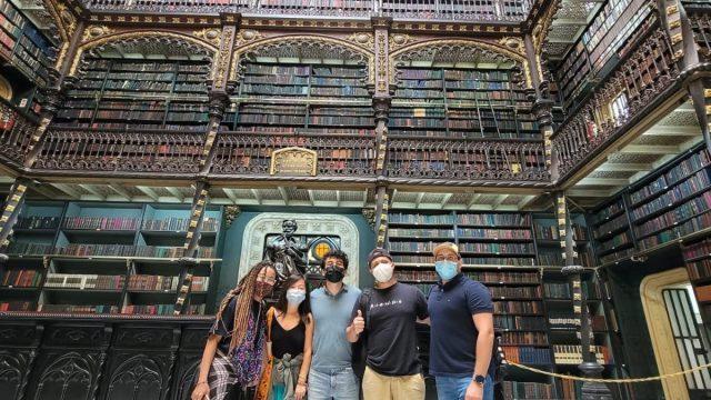 Learning Brazilian History at Centro do Rio de Janeiro. Students visit the Portuguese Biblioteca