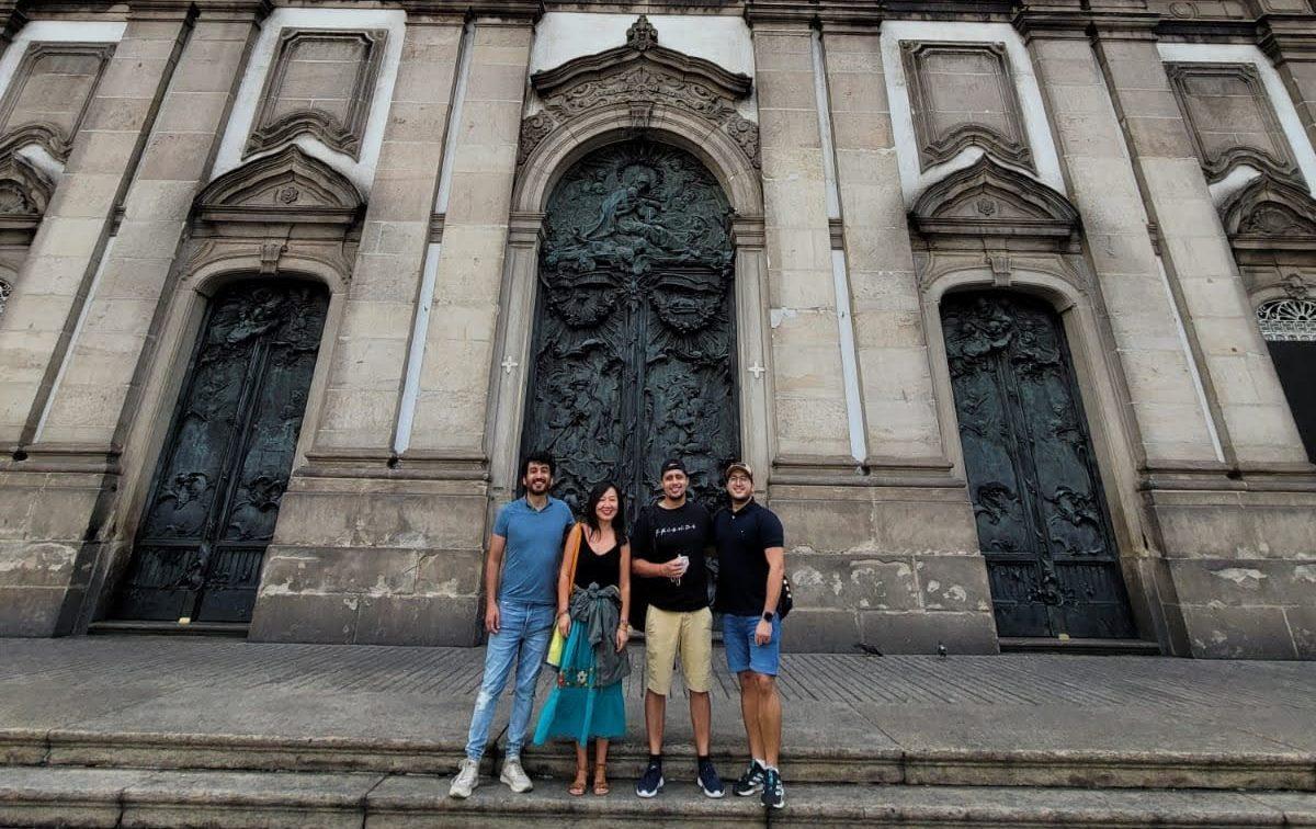 Learning Brazilian History at Centro do Rio de Janeiro. Students visit Candelária church