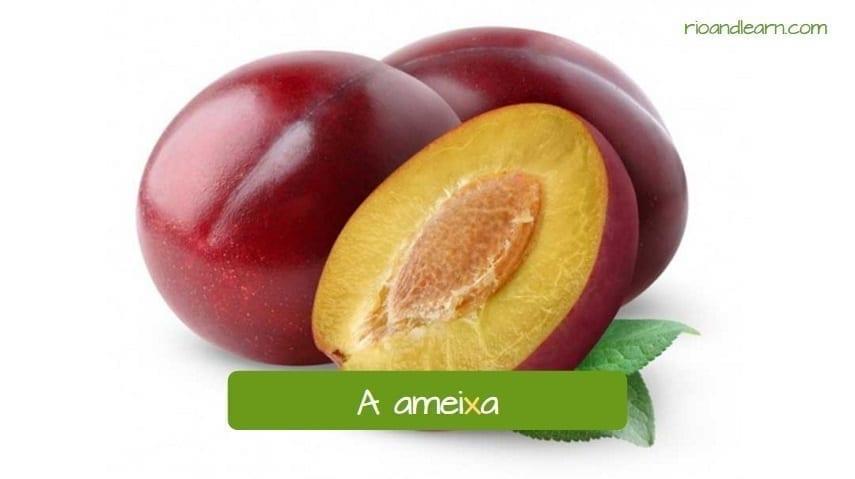Pronúncia do X em Português. A ameixa.