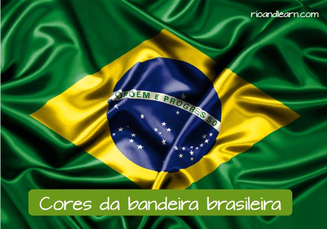 Brazil Flag. As cores da bandeira do Brasil.