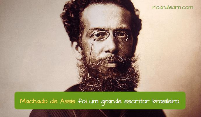 Escritor Brasileiro Machado de Assis. Machado de Assis foi um grande escritor brasileiro.
