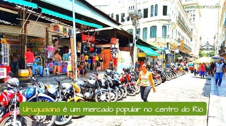 Uruguaiana Market in Rio de Janeiro. Uruguaiana é um mercado popular no centro do Rio.